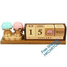 JAPAN 2014 LITTLE TWINS STAR WOODEN DICES PERPETUAL CALENDAR ORNAMENT 183687