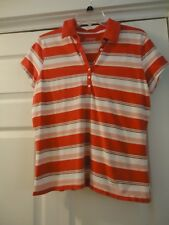 St. John's Bay  Polo ~ L ~ Pink Stripes ~ Worn Just a Couple of Times