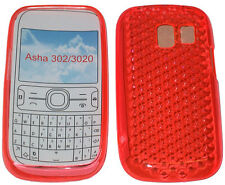For Nokia Asha 302  3020 Pattern Gel Jelly Case Cover Protector Pouch Orange New