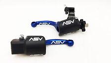 ASV F3 Shorty Blue Folding Brake + Clutch Levers Hot Kit Yamaha YZ250F YZ450F