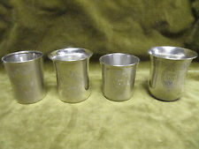 late 19th c early 20th c french 950 800 silver 4 baby cups 204gr