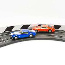 NEW AFX Slot Car Guard Rail Set - Black & White FITS: Tomy, Model Motoring