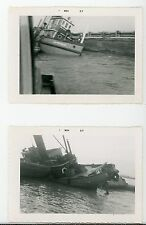 Canadian Dredge & Dock tugboat A.M Macaulay sinking Vintage photo Ontario #4