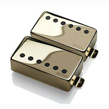 EMG 57/66 Bridge Neck Humbucker Pickup Set w/ Long Shaft Gibson Les Paul Gold