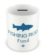 Fishing Rod Fund Money Box - Piggy Bank Gift Idea Fishing Hobby Dad coin pot #92
