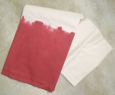 WEST ELM ~ DIP DYE TABLECLOTH ~ RED ~ TIE DYE ~ POTTERY BARN LINENS