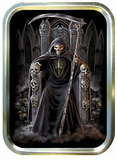 GRIM REAPERS THRONE 2oz GOLD TOBACCO TIN,PILLTIN,STASH CAN,BACCY TIN,BAIT TIN