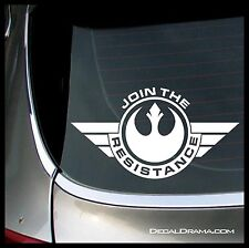 JOIN THE RESISTANCE badge Vinyl Car Decal, Star Wars-Inspired Fan Art