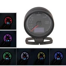 """7-Color LED Universal 60mm/2.36"""" Car Turbo Boost Gauge Meter Adjustable Colors"""