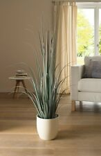 """45 in Deco Faux Pot Plant """"Silver Grass"""", Large"""