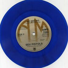 "Sex Pistols-God Save the Queen 7"" Blue VINILE A & M Sleeve Goodman ""no feeling/S"""