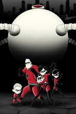 Supers Poster - Bruce Yan - Limited Edition of 100 - GID - The Incredibles