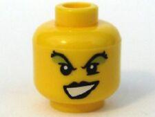 LEGO - Minifig, Head Female with Black Lips, Green Eye Shadow Pattern