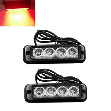 2x Red LED Warning Hazard Emergency Beacon Flash Strobe Signal Light Waterproof