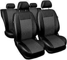 CAR SEAT COVERS full set fits VW Caddy Universal Leatherette Black/Grey