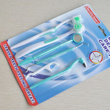 Oral Care Kit Set Toothbrush Dental Mirror Plaque Remove Tooth Stain Eraser new