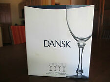 Dansk Red Wine Glasses, Set of 4, Brand New in the Box