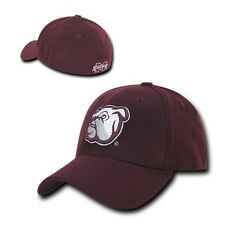 Maroon Mississippi Miss State Bulldogs NCAA Flex Baseball Fitted Fit Cap Hat