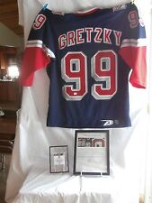 Wayne Gretzky Signed Rangers Alternate Statue Of Liberty Jersey Framed GAI - COA