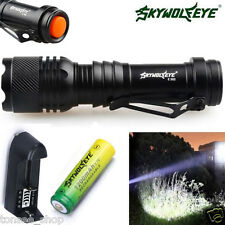 2000LM Zoom Mini CREE Q5 LED Flashlight Focus Torch Light 14500 Battery Charger