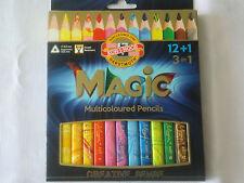 KOH-I-NOOR Magic Triangular coloured  pencils 12+1 pcs Brand new Ergonomic 3408