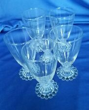 6 Anchor Hocking Fire King Boopie Bubble Glasses Mid Century Modern Vintage