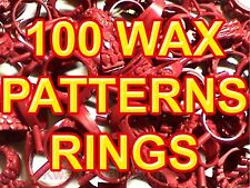 #1 100 WAX RINGS PATTERNS MOLDS JEWELRY TOOLS GOLD RUBBER VULCANIZER