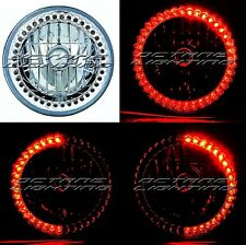 "(1)7"" H6024/6014 Red LED Angel Eye Ring Halo Headlight Blinker Turn Signal Light"