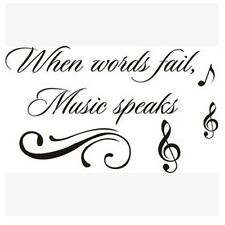 """55.9*33 smart """"music speaks"""" PVC removable wall stickers wall decals decorative"""