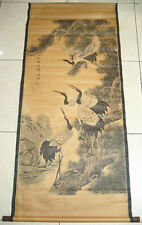 Chinese painting scroll Crane and Pine By Qi Baishi 齐白石 松鹤图