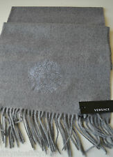 NEW GENUINE  VERSACE GREY WOOL SCARF  MADE IN ITALY WOMAN / MEN  Gift