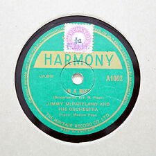 """JIMMY McPARTLAND AND HIS ORCHESTRA """"In A Mist"""" HARMONY A-1002 [78 RPM]"""