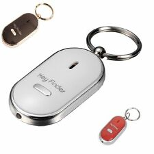 WHISTLE KEY FINDER FLASHING BEEPING REMOTE  FIND LOST KEYRING MC