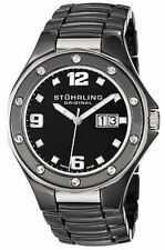 Stuhrling 154 33OB10 Men's Swiss Made Apocalypse Noir Date Black Ceramic Watch