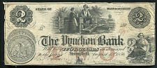 1856 $2 The Pynchon Bank Of Springfield, Ma Obsolete Banknote Rare