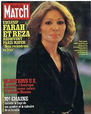 COUVERTURE DE MAGAZINE PARIS MATCH 1641 07/11/80 Farah Diba & Reza