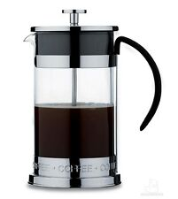 Grunwerg Deluxe 8 Cup Black Glass Cafetiere CM-10CS Coffee Maker With Plunger