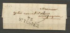 1825 Lettre Marque Linéaire 78 ST Tropez VAR(78) 35*11 Ind 7 cote 30€  X1974