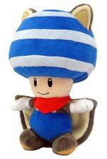 """Super Mario Bros FLYING SQUIRREL BLUE TOAD 8"""" Plush - Little Buddy - New w/Tags"""