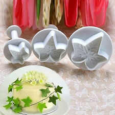 New Maple Leaf Shape Fondant Cutters Mold Cookie Cake Sugarcraft Plunger Tool