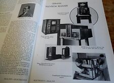 It is 1935..rare GERMAN Television Receivers reviewed in Electronics mag Tekade
