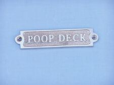 Polished Solid Aluminum Poop Deck Sign, Plaque.Poop Deck sign