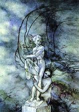 Arthur RACKHAM La Pequeña Sirena Mar Océano de cuento de hadas Hadas montado Impresión estatua