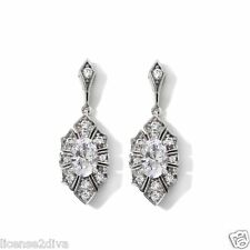 STERLING SILVER & ABSOLUTE VINTAGE EARRINGS! DESIGNER STYLE! FREE SHIP! NEW