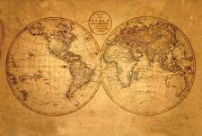 Old World Map Poster 24x36