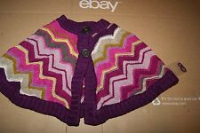 Missoni for Target Toddler Girl Capelet Cape Sweater Large 2T - 3T Chevron New