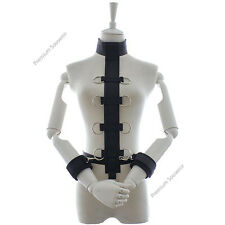 Costume Bondage Restraint Sex Aid Slave Straitjacket Collar Cuff Handcuff Toy