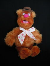 """JIM HENSON THE MUPPETS FOZZIE BEAR 13"""" SOFT PLUSH TOY EX CONDITION"""
