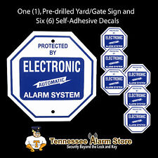 1  Authentic Security Alarm System Yard Sign & 6 Window Stickers