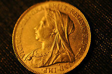 "1900  BRITAIN FULL SOVEREIGN ""QUEEN VICTORIA"" Gold Coin- 100% Authentic!!!"